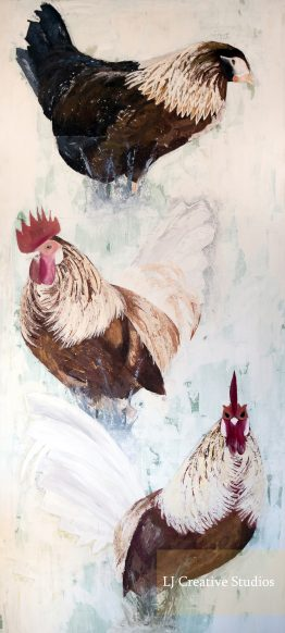Chickens painting limited edition prints