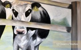 Cow at College Farm painting limited edition prints