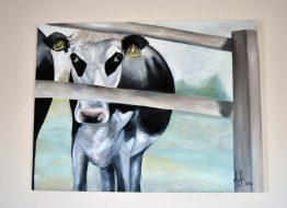 Original Cow at College Farm painting