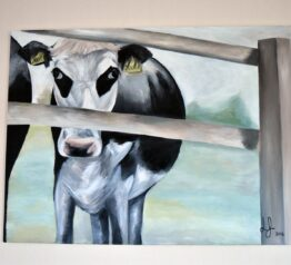 Original Cow at College Farm painting