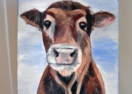 Original Mootiful the cow painting