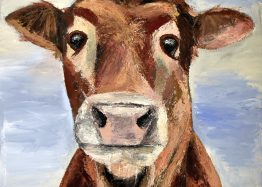 Mootiful the cow painting limited edition prints