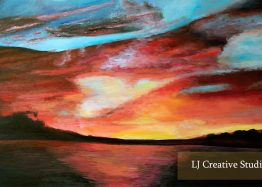 Sunset painting limited edition prints