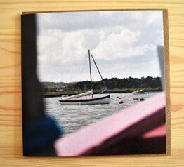 Boat photograph blank greeting card.