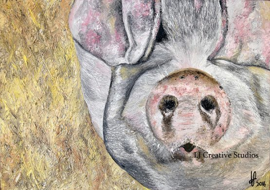 George the pig painting