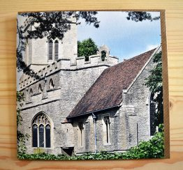 Oakley Church photograph blank greeting card